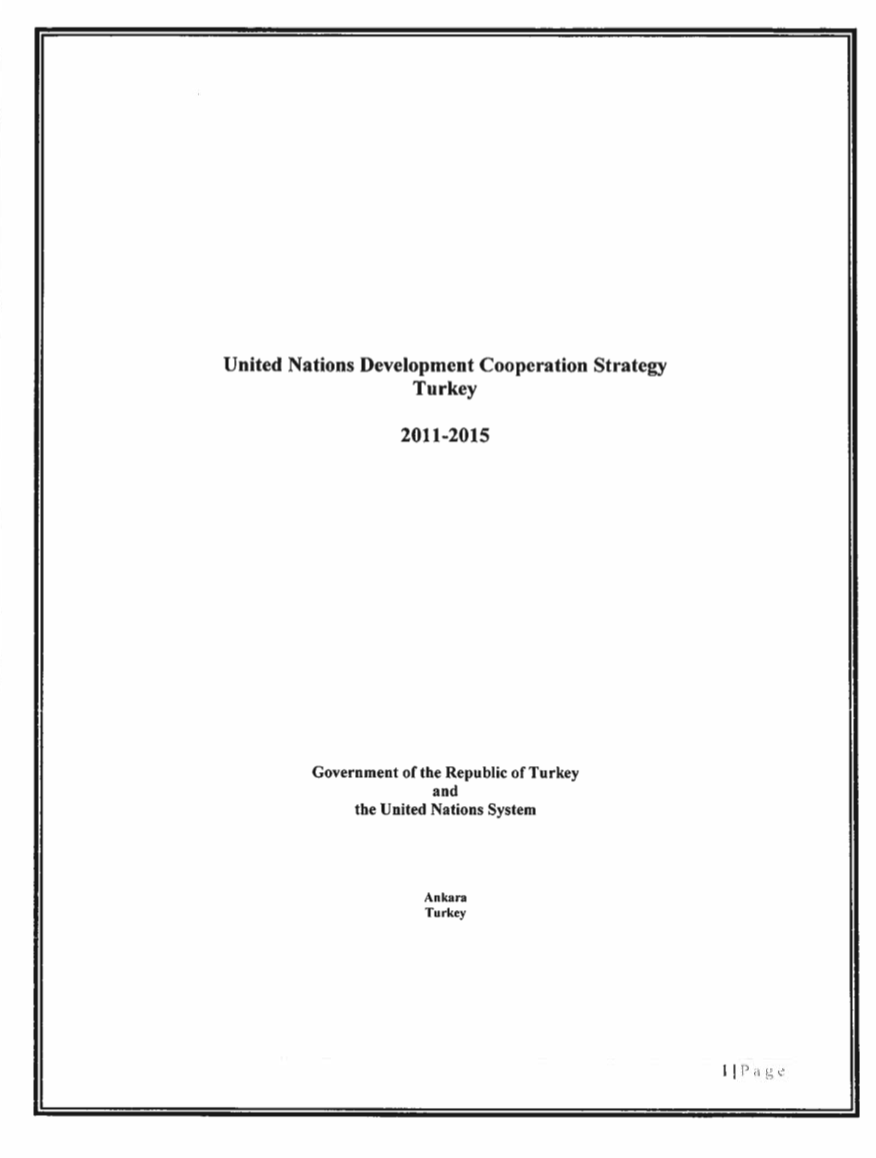 UNDCS Turkey 2011-2015