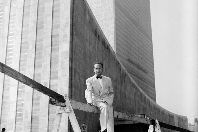 Dag Hammarskjöld at UN HQ in NY